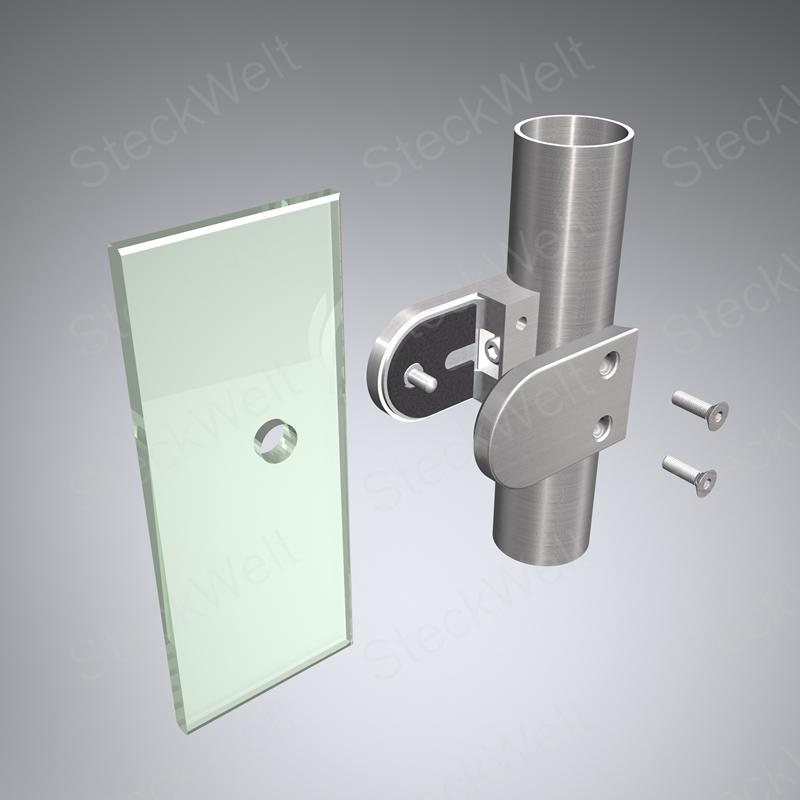Glasklemmhalter für ESG 8mm
