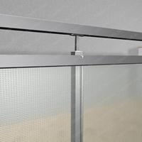 Einscheibensicherheitsglas (ESG) 6mm in U - Schiene