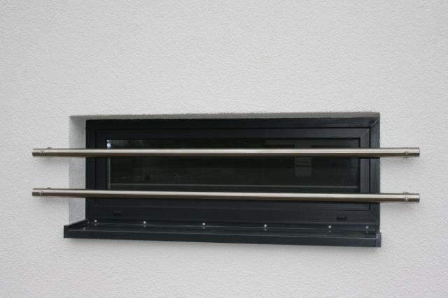 Fensterstangen auf Wärmedämmverbundsystem