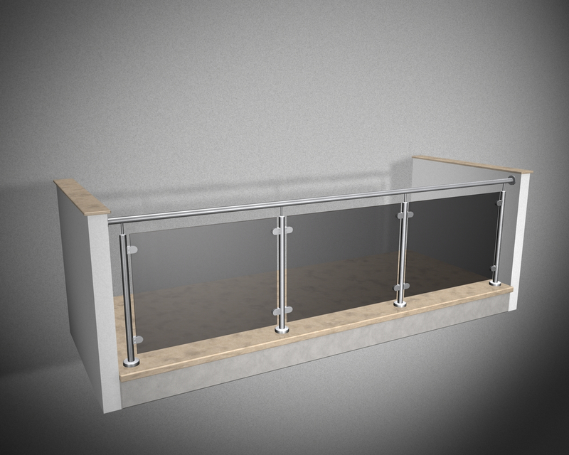 edelstahlgel nder r line vsg esg sicherheitsglas parsol grau in. Black Bedroom Furniture Sets. Home Design Ideas