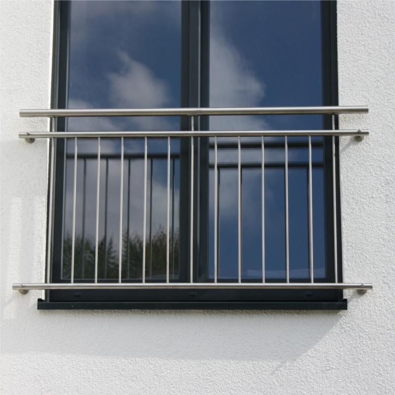 edelstahl fenstergitter franz sischer balkon r line senkre. Black Bedroom Furniture Sets. Home Design Ideas
